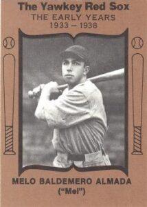 1972 TCMA Melo Almada aparece en está recopilación de 1972 que  integraba a jugadores de Medias Rojas y Yankees