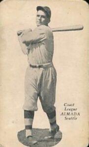 LOU ALMADA José Luis Almada, hermano mayor de Baldomero, fue el primer mexicano en aparecer en una tarjeta de beisbol
